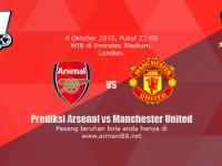 Prediksi Arsenal vs Manchester United 4 Oktober 2015