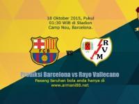 Prediksi Barcelona vs Rayo Vallecano 18 Oktober 2015