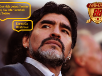 Maradona Membuka Akun Twitter