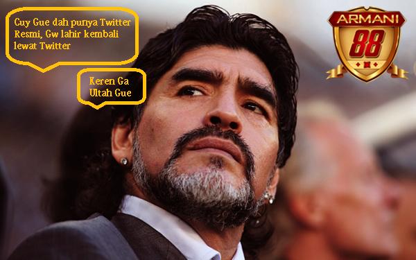 diego maradona legenda sepakbola membuka twitter resmi di hari ulang tahun