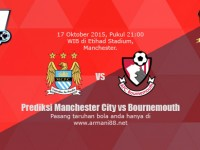Prediksi Manchester City vs Bournemouth 17 Oktober 2015