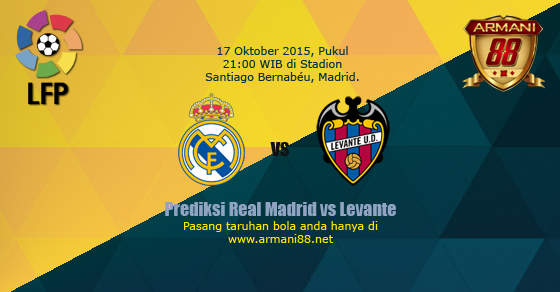 Prediksi Real Madrid vs Levante 17 Oktober 2015